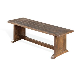 Calina Side Wood Bench by Gracie Oaks
