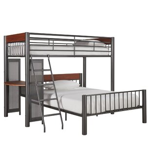 metal bunk bed with desk. Plain Bunk Lesa LShaped Bunk Bed With Desk Inside Metal With B