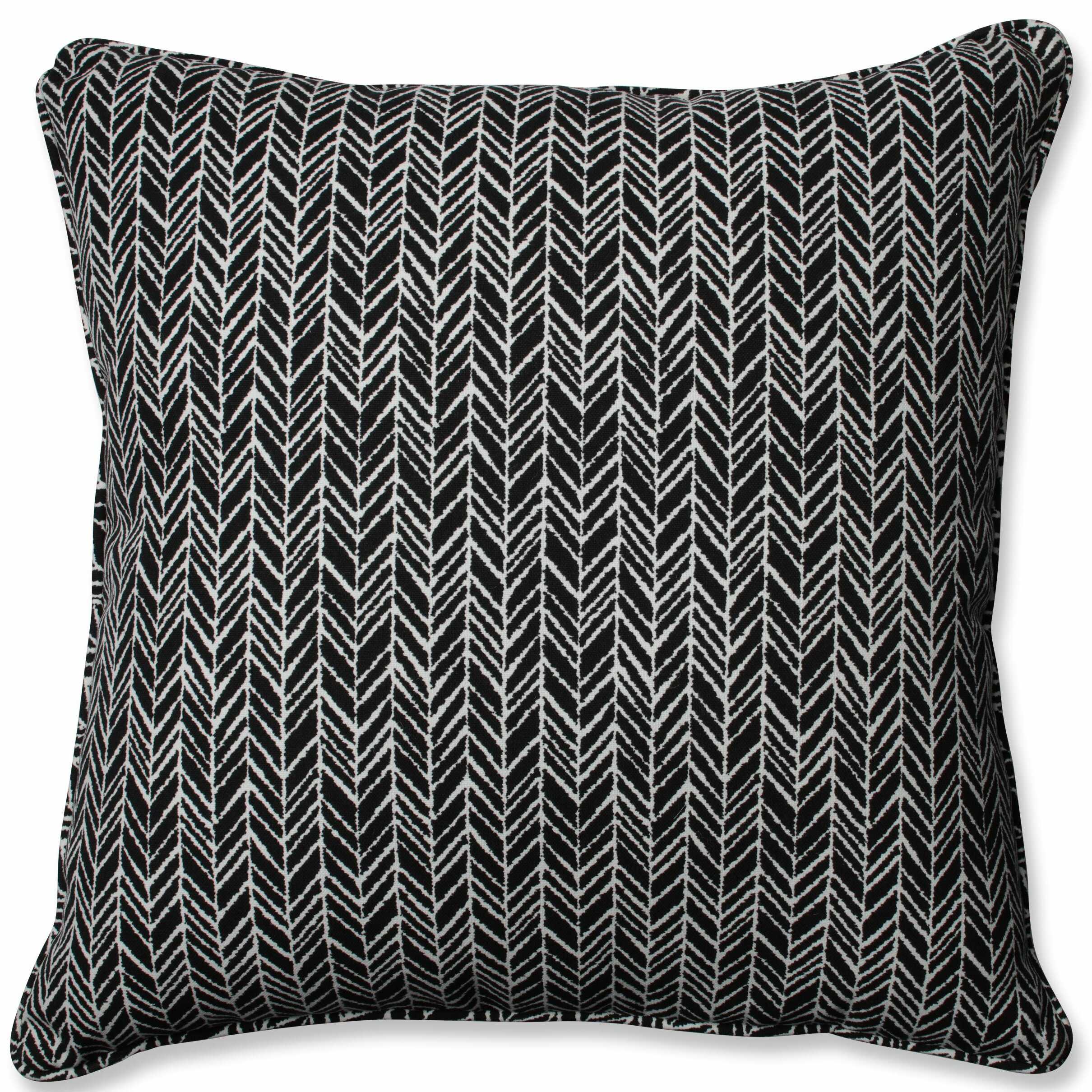 Herringbone Indoor Outdoor Floor Pillow Reviews Birch Lane
