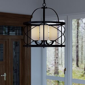 farrier 3light foyer pendant - Foyer Chandeliers