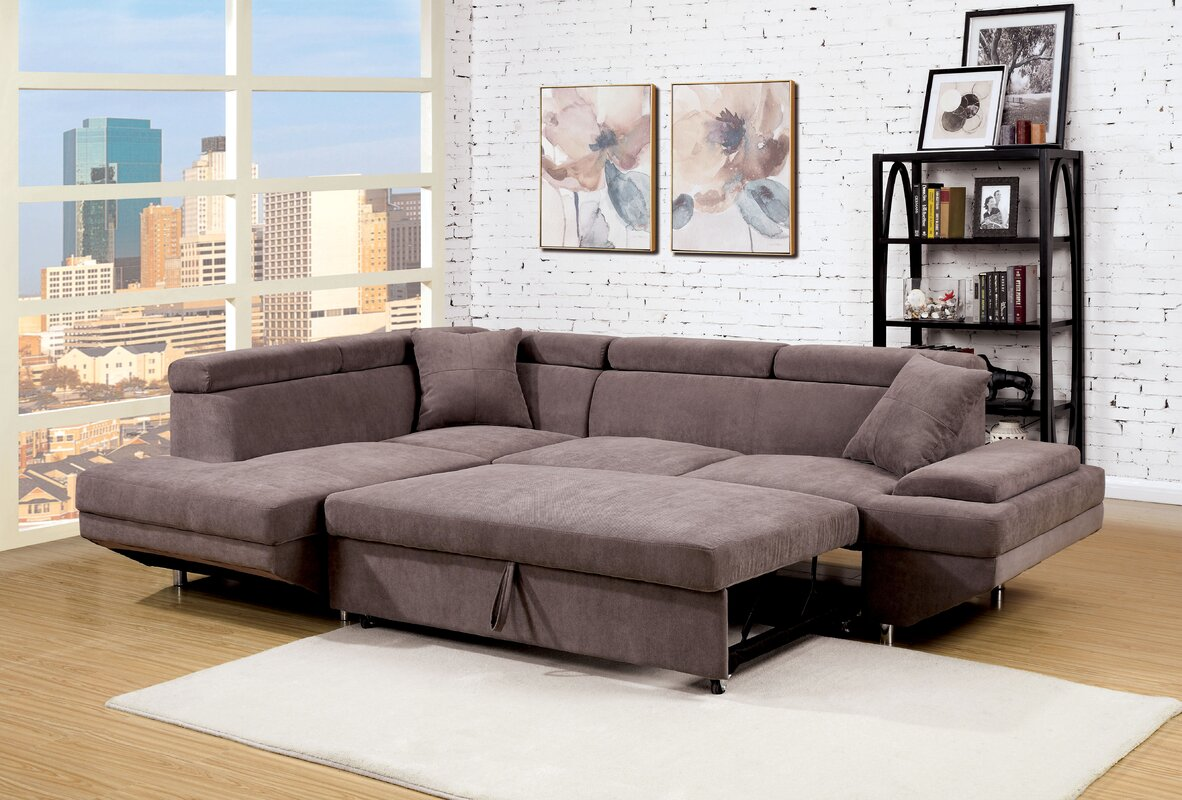 Orren Ellis Aprie Sleeper Sectional Collection & Reviews