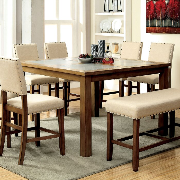 Superior Crafton 7 Piece Counter Height Pub Table Set