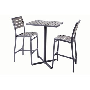 Madbury Road Bar Height 3 Piece Dining Set