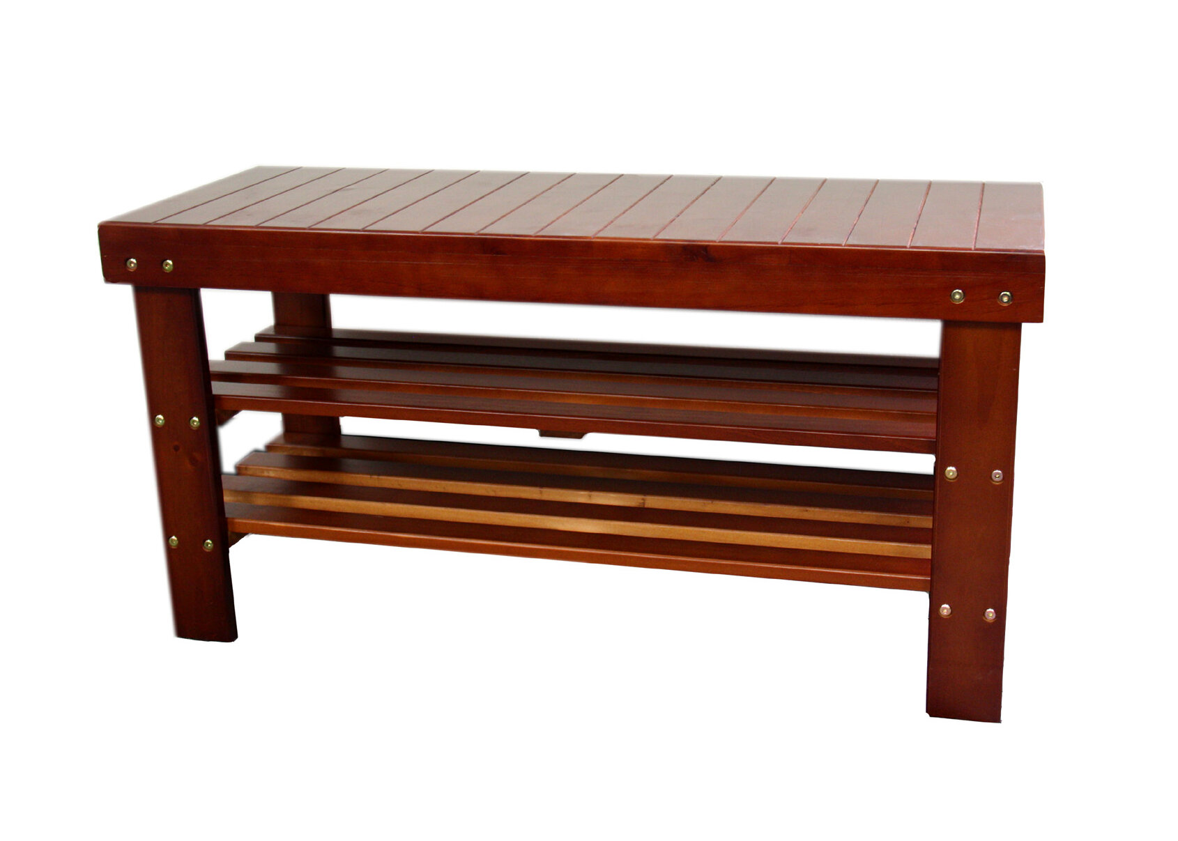 Winston Porter Babcock Wood Storage Bench Wayfair