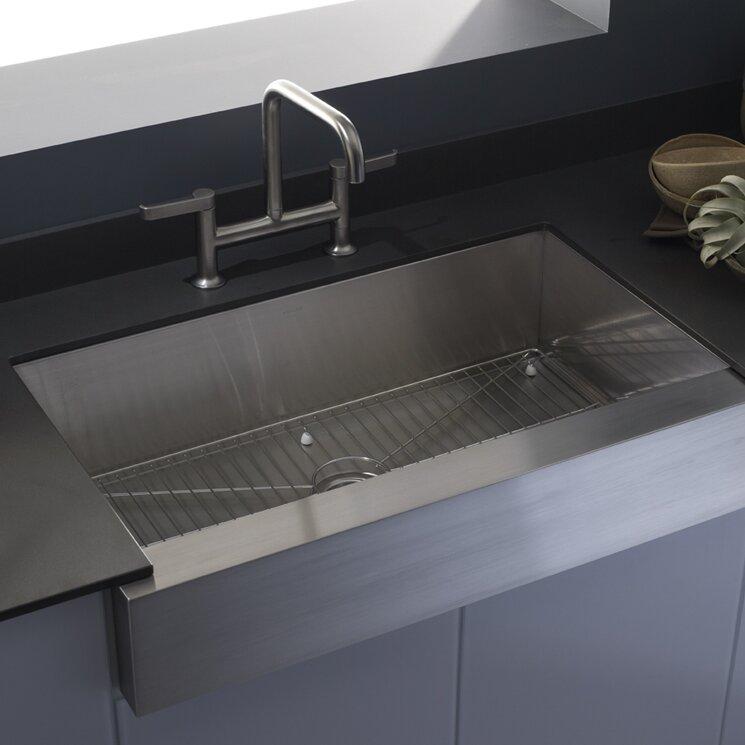 K 3943 Na Kohler Vault Farmhouse Single Bowl Kitchen Sink