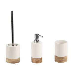 viola 3 piece bathroom accessory set