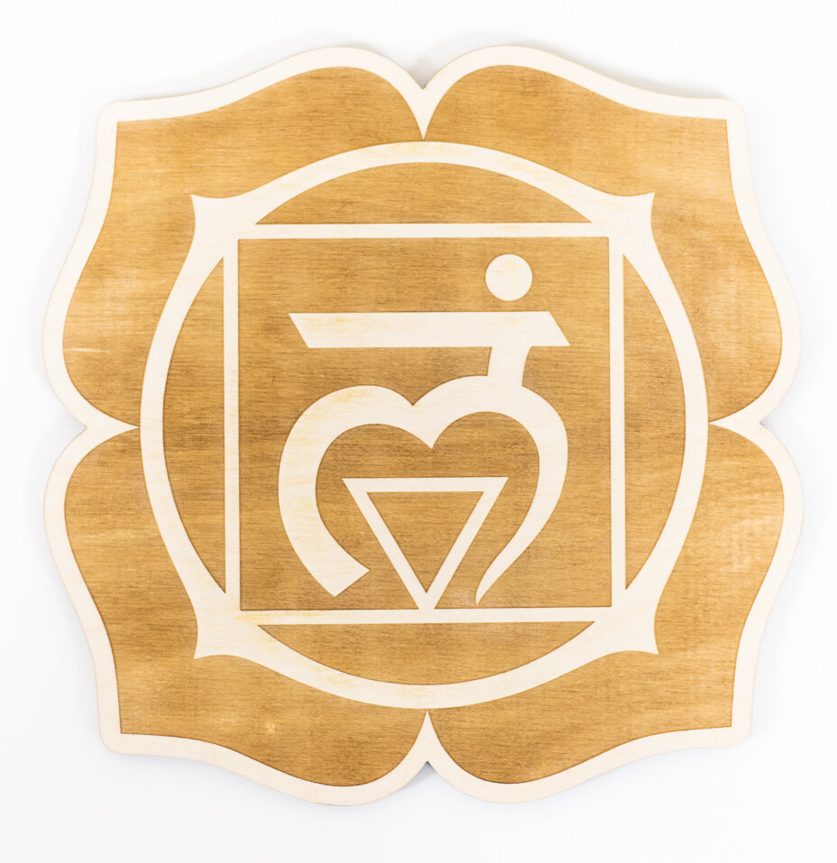 Woodums Root Chakra Engraved Wood Sign Wall Décor | Wayfair