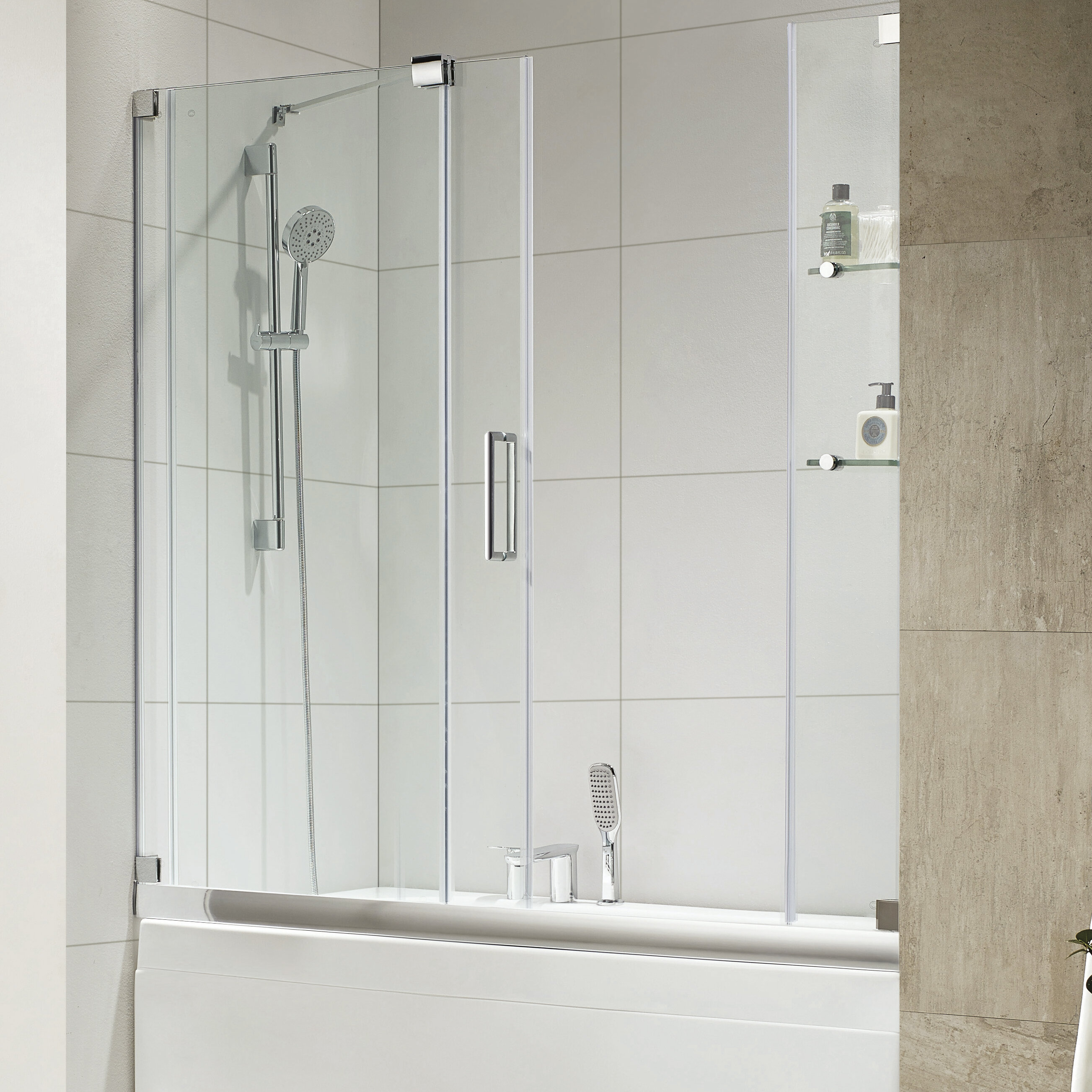 Wet Republic Oasis E 60 X 58 Single Sliding Frameless Tub Door