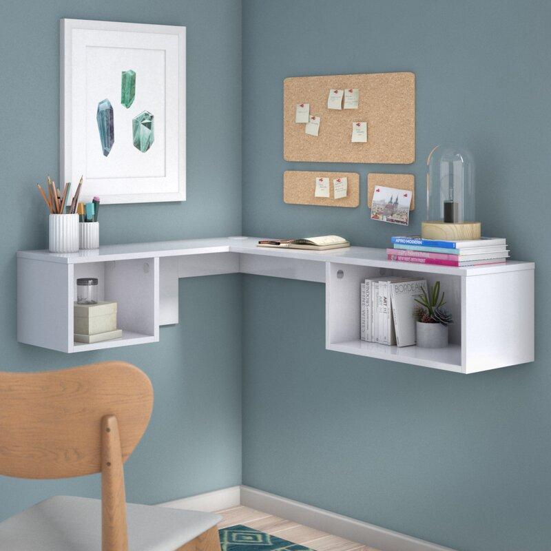 Orren Ellis Chaves Wall Mount Corner Desk Amp Reviews Wayfair