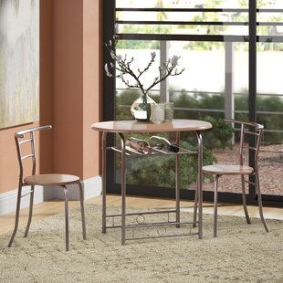 Shingadia Bistro 3 Piece Breakfast Nook Dining Set