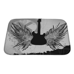 Instruments Rock Guitar Bath Rug