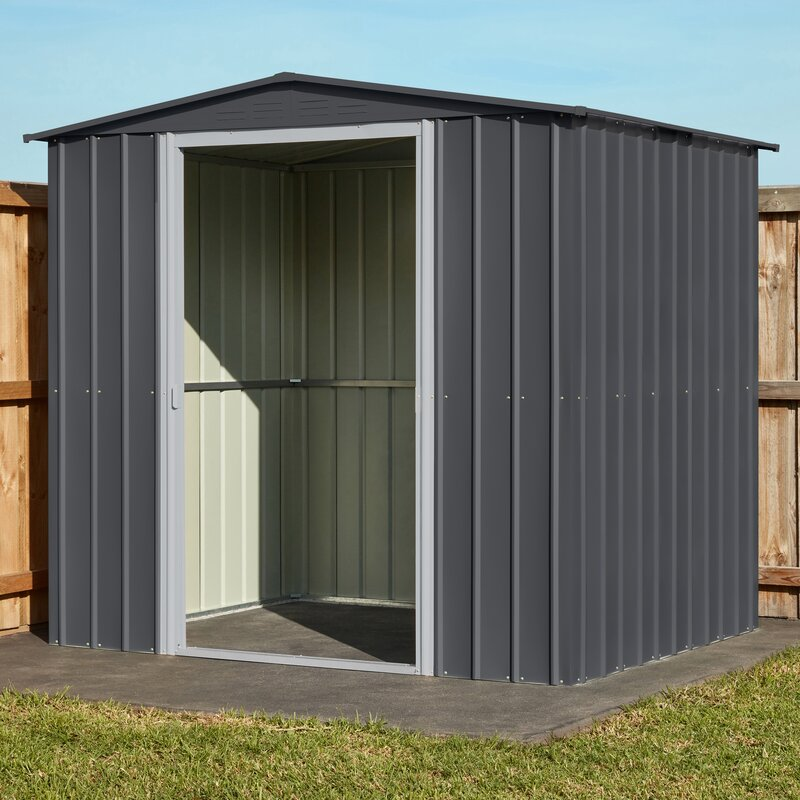 Garden Sheds 9 X 5 globel 7 ft. 8 in. w x 5 ft. 9 in. d metal storage shed & reviews