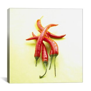 Food And Cuisine Red Chili Peppers Photographic Print On Canvas