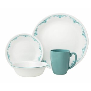 Livingware Garden Lace 16 Piece Dinnerware Set, Service for 4