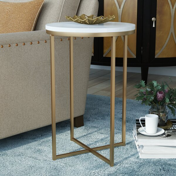 Everly Quinn Andromeda Round Side Table Amp Reviews