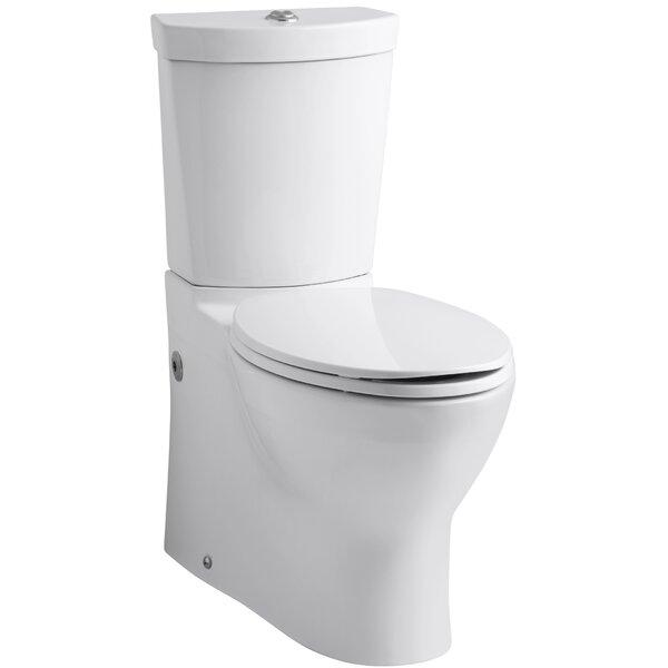 kohler persuade skirted twopiece elongated dualflush toilet with top actuator u0026 reviews wayfair
