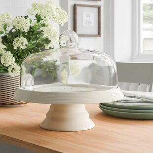 96fc5eda1d22 Classic Ceramic Cake Stand with Dome Lid