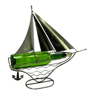 Sailboat 1 Bottle Tabletop Wine Rack