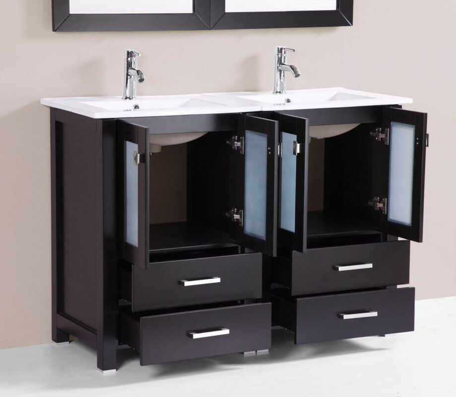Zipcode Design Lyn Modern 48 Double Bathroom Vanity Set With Mirror W