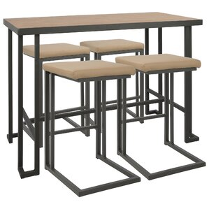 mathew industrial 5 piece counter height dining set set of 5