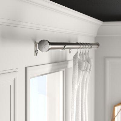 Mercury Row Wiersma End Cap Window Curtain Double Rod Size: 3.5'' H x 48'' W x 5'' D