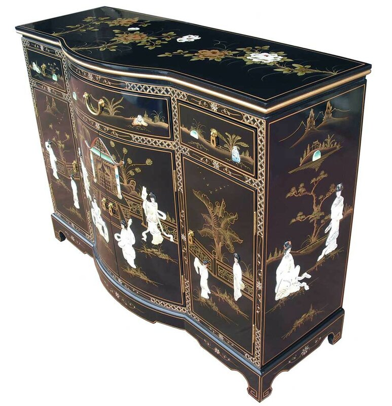Grand international decor sideboard mother of pearl for Grand international decor
