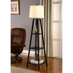 Floor lamp with shelves wayfair elliot 63 floor lamp aloadofball Gallery