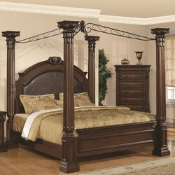 Poster Canopy Bed astoria grand payne upholstered canopy bed & reviews | wayfair