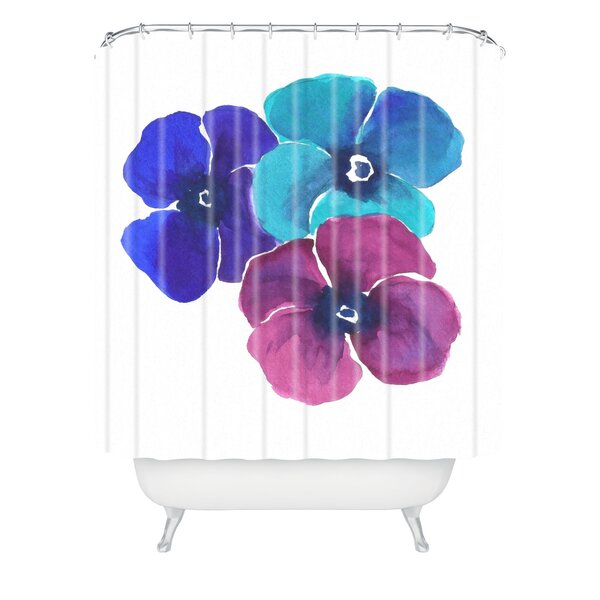 East Urban Home Jewel Tone Pansies by Laura Trevey Shower Curtain ...
