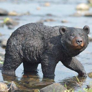 Outdoor Wood Bear Statues Wayfair Ca
