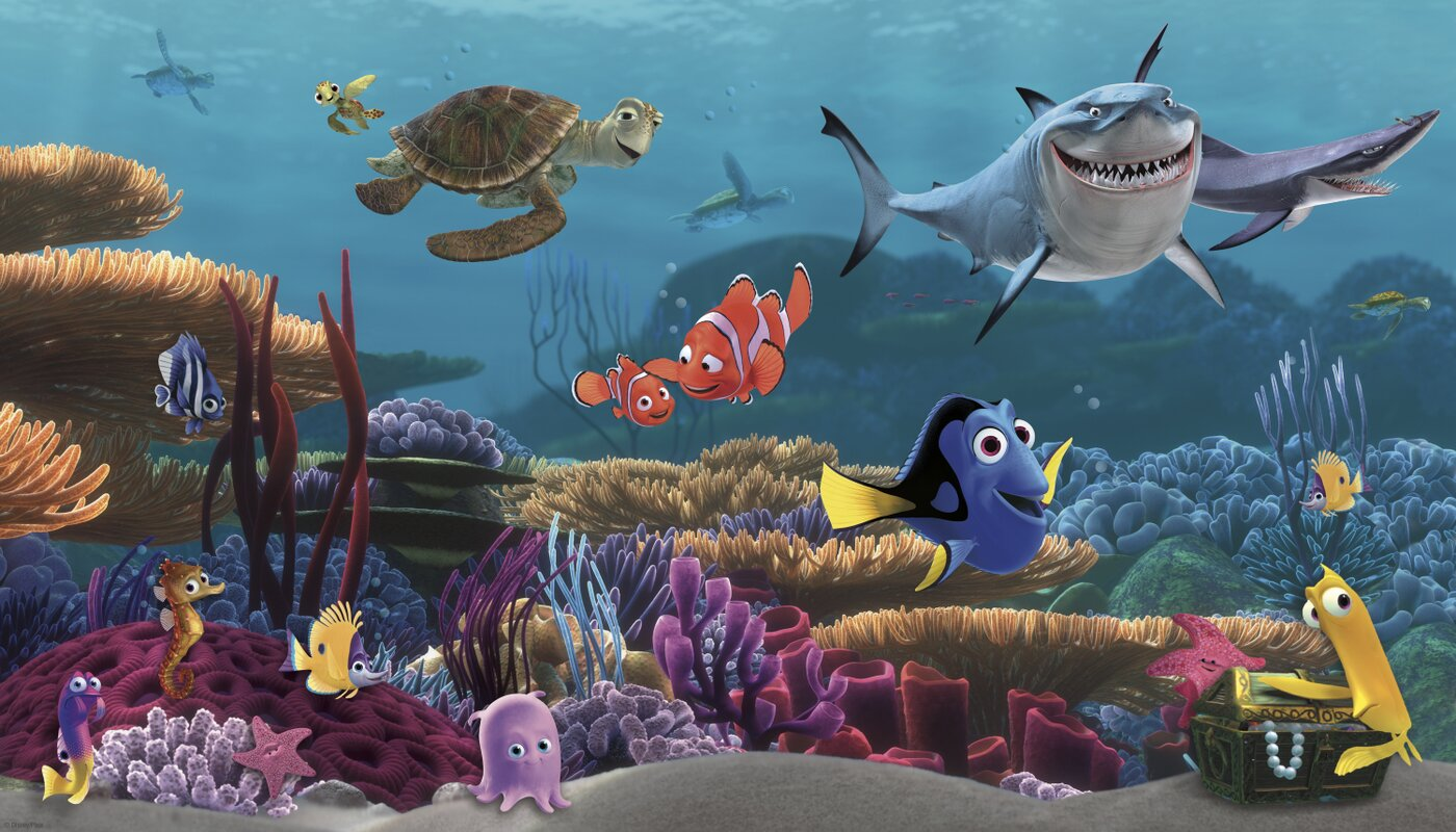 York Wallcoverings Walt Disney Kids Ii Finding Nemo Wall