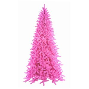 75 downswept hot pink noble pine artificial christmas tree - Hot Pink Christmas Tree