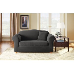 Box Cushion Loveseat Slipcover Set by Sure Fit