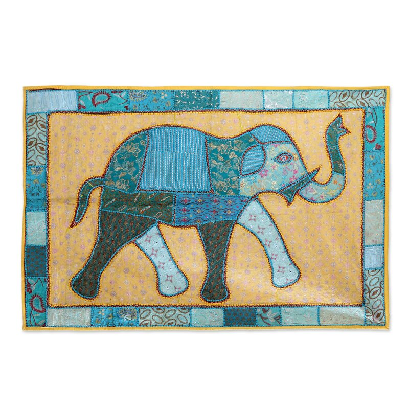 Bloomsbury Market Elephant Frame Tapestry and Wall Hanging | Wayfair