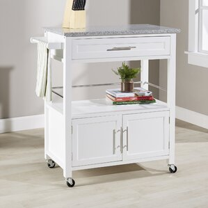 Snow Kitchen Island with Granite Top by A..