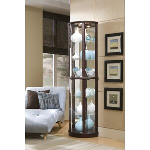 living room cabinet furniture. Chesapeake Narrow Lighted Curio Cabinet Display Cabinets You ll Love  Wayfair
