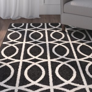 Falmer Black/Cream Area Rug