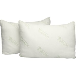 Essence of Bamboo Down Alternative Queen Pillow (Set of 2) by Pegasus Home Fashions