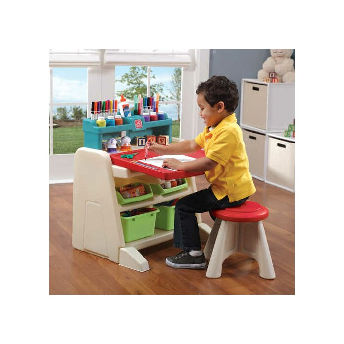 step2 flip and doodle easel desk with stool reviews wayfair ca