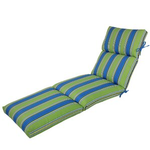 Channeled Reversible Outdoor Chaise Lounge Cushion  sc 1 st  Wayfair.com : pool chaise cushions - Sectionals, Sofas & Couches