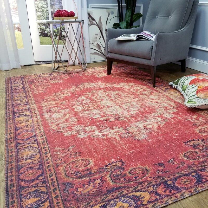 Bloomsbury Market Wooldridge Gypsy Elegance Red Area Rug | Wayfair