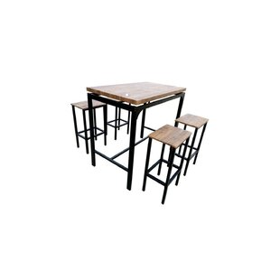 Bratton 5 Piece Pub Table Set