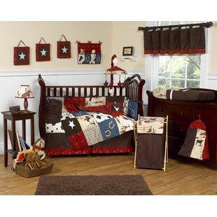 Wild West Cowboy 9 Piece Crib Bedding Set