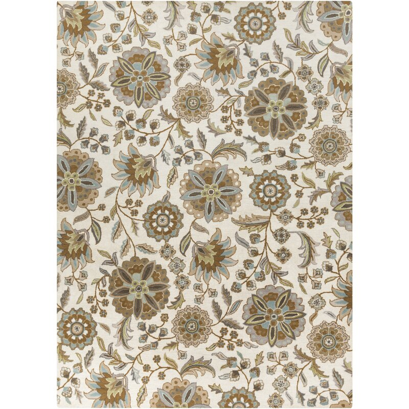 Birch Lane Jasmine Parchment Amp Moss Tufted Wool Area Rug