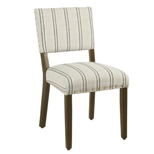 Camilo Stripe Upholstered Dining Chair (Set of 2)
