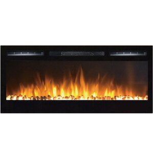 Cynergy Pebble Stone Built-In Wall Mount Electric Fireplace by Moda Flame