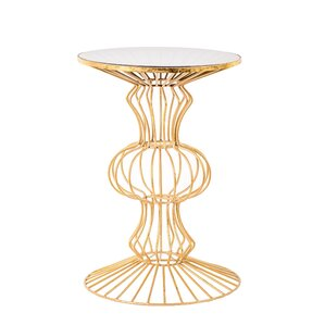 Wade Logan Haymarket Iron Wire End Table Image