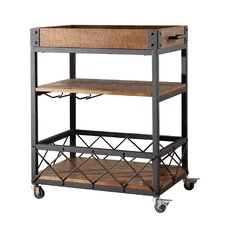 torrance kitchen cart with wooden top. Interior Design Ideas. Home Design Ideas