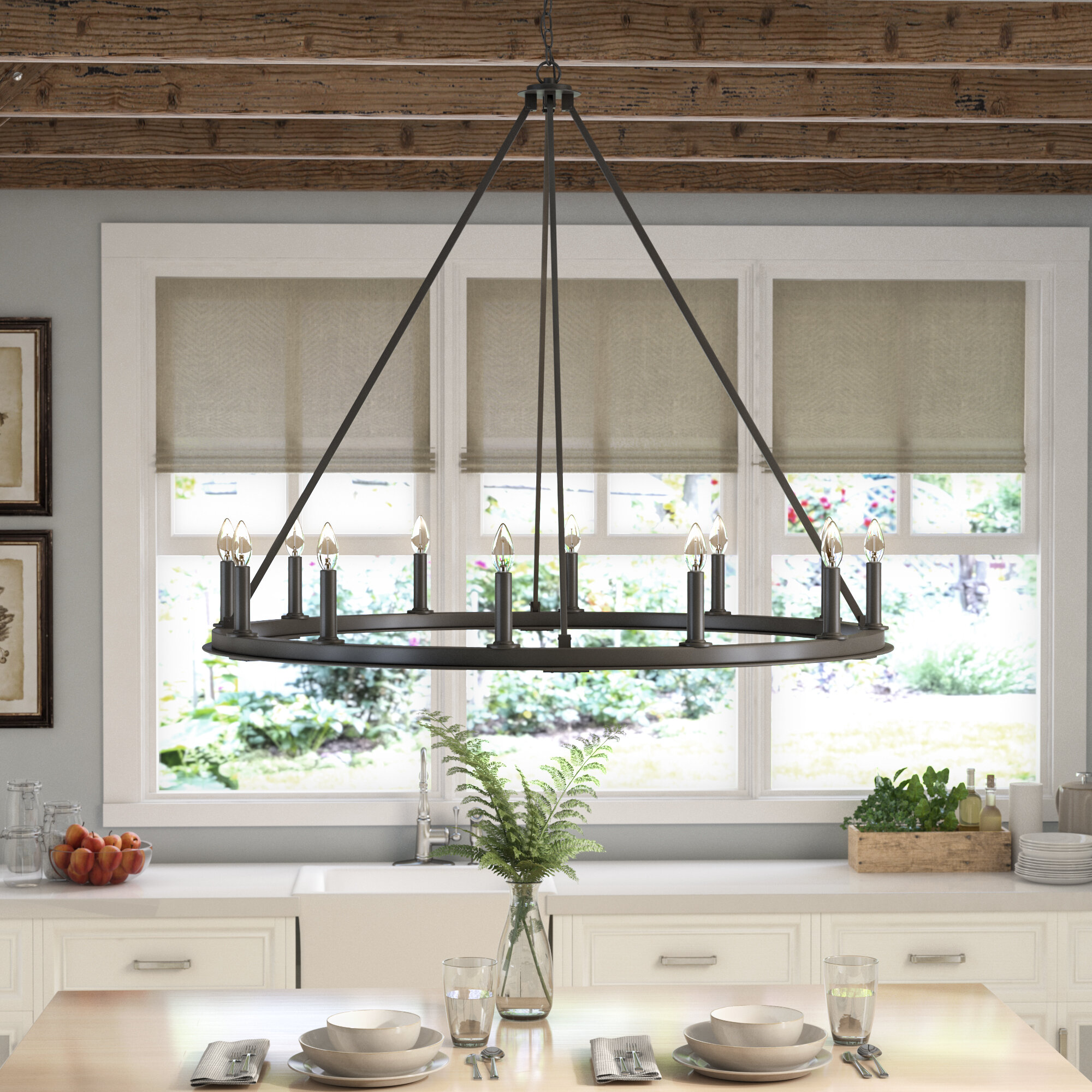 Take A Bite Out Of 24 Modern Dining Rooms: Laurel Foundry Modern Farmhouse Shayla 12-Light Candle