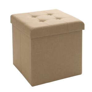 Tufted Foldable Storage Cube Ottoman by Seville Classics
